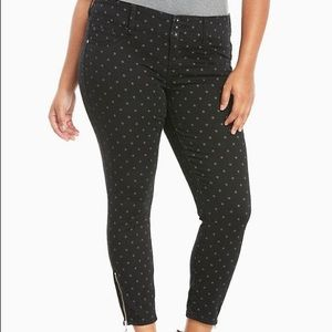 Torrid black polka dot jeggings